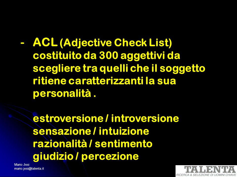 ACL (Adjective Check List)