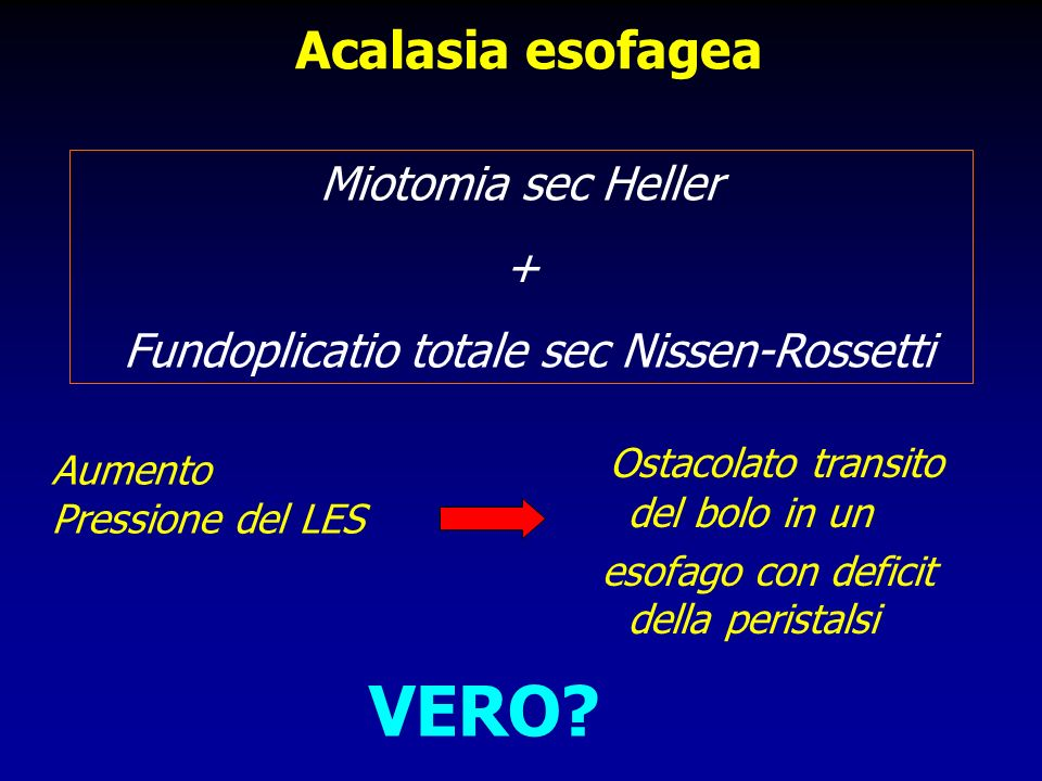 Fundoplicatio totale sec Nissen-Rossetti