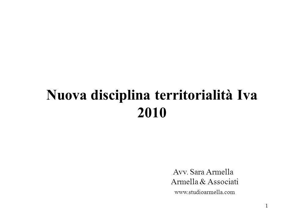 Nuova disciplina territorialità Iva 2010