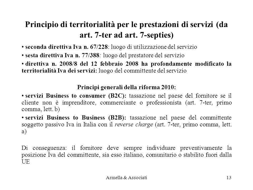 Principi generali della riforma 2010: