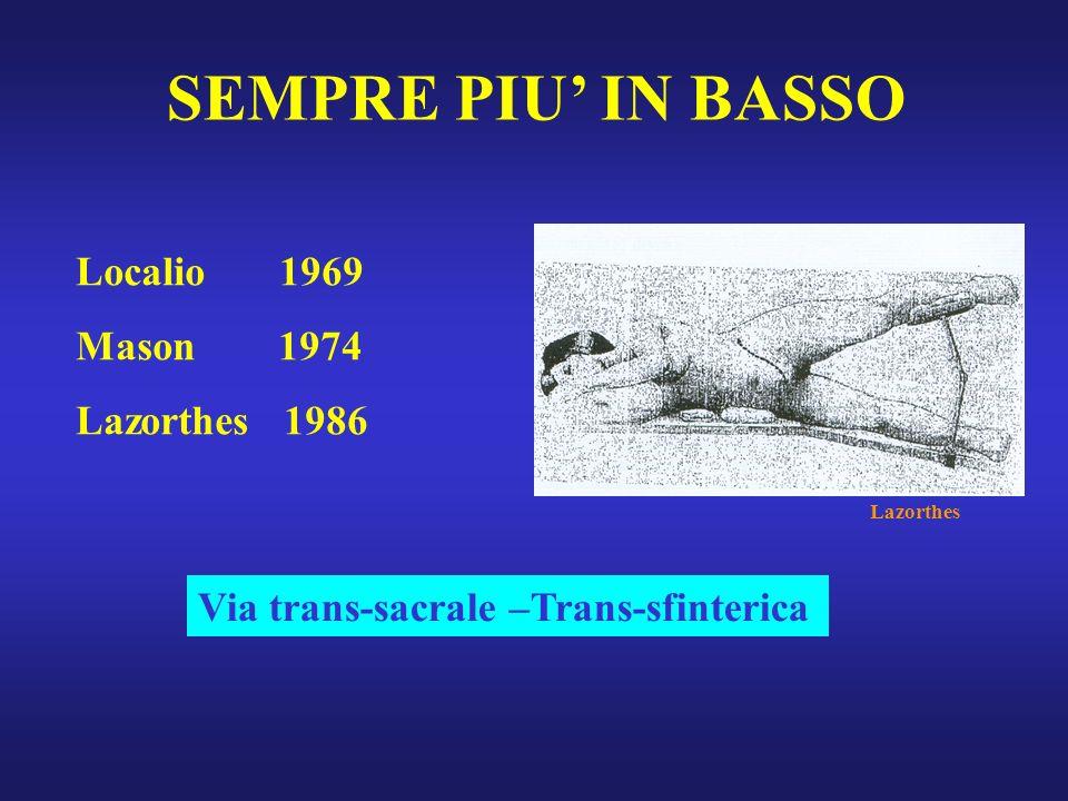 SEMPRE PIU' IN BASSO Localio 1969 Mason 1974 Lazorthes 1986