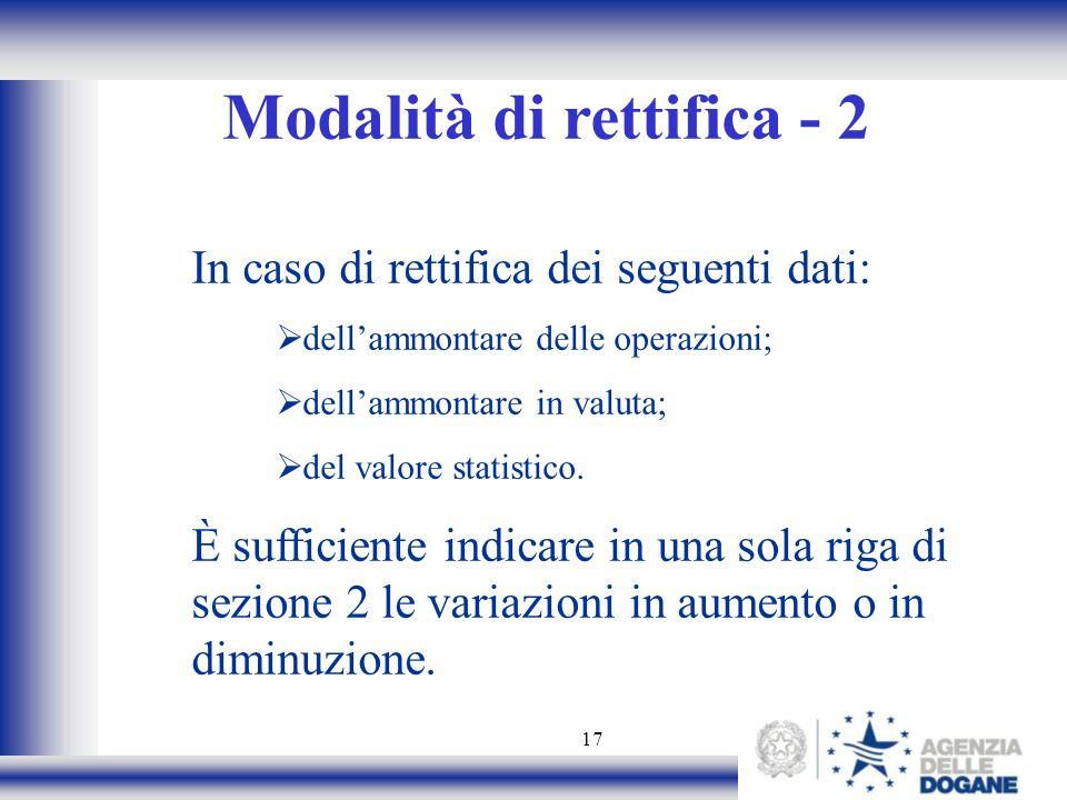 Modalità di rettifica - 2