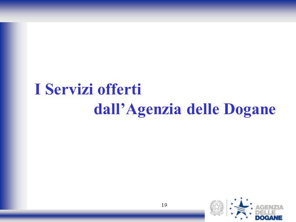 I Servizi offerti dall'Agenzia delle Dogane