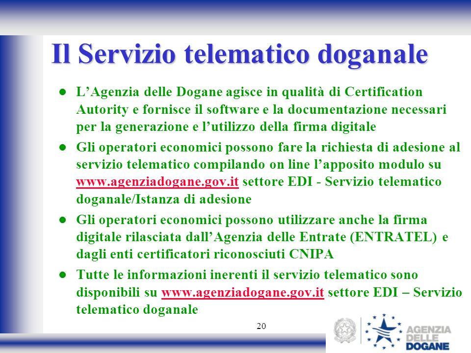 Il Servizio telematico doganale
