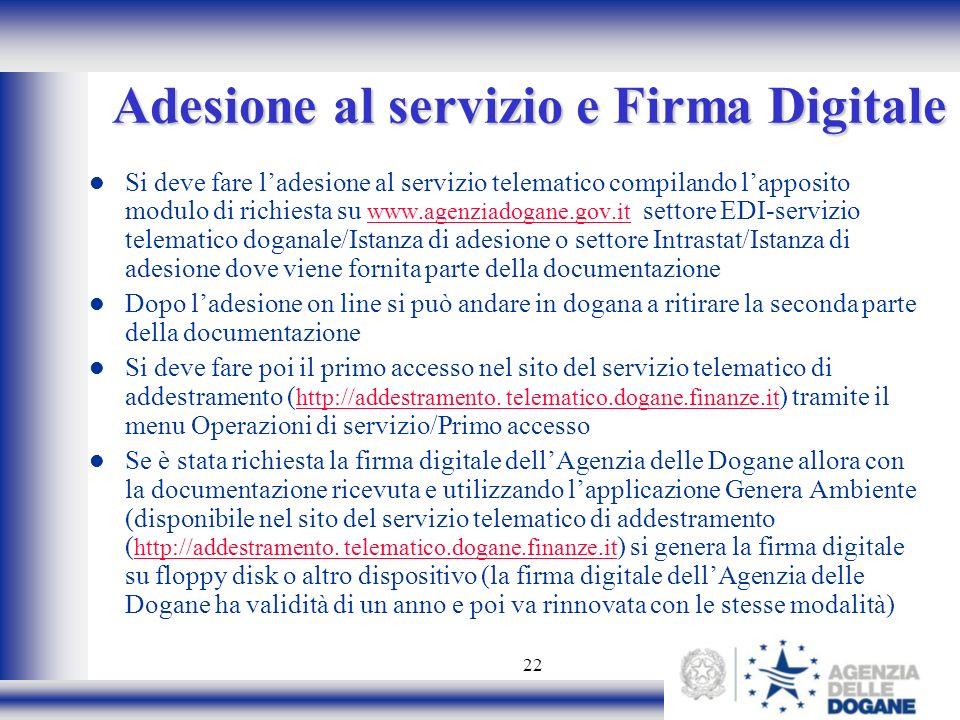 Adesione al servizio e Firma Digitale