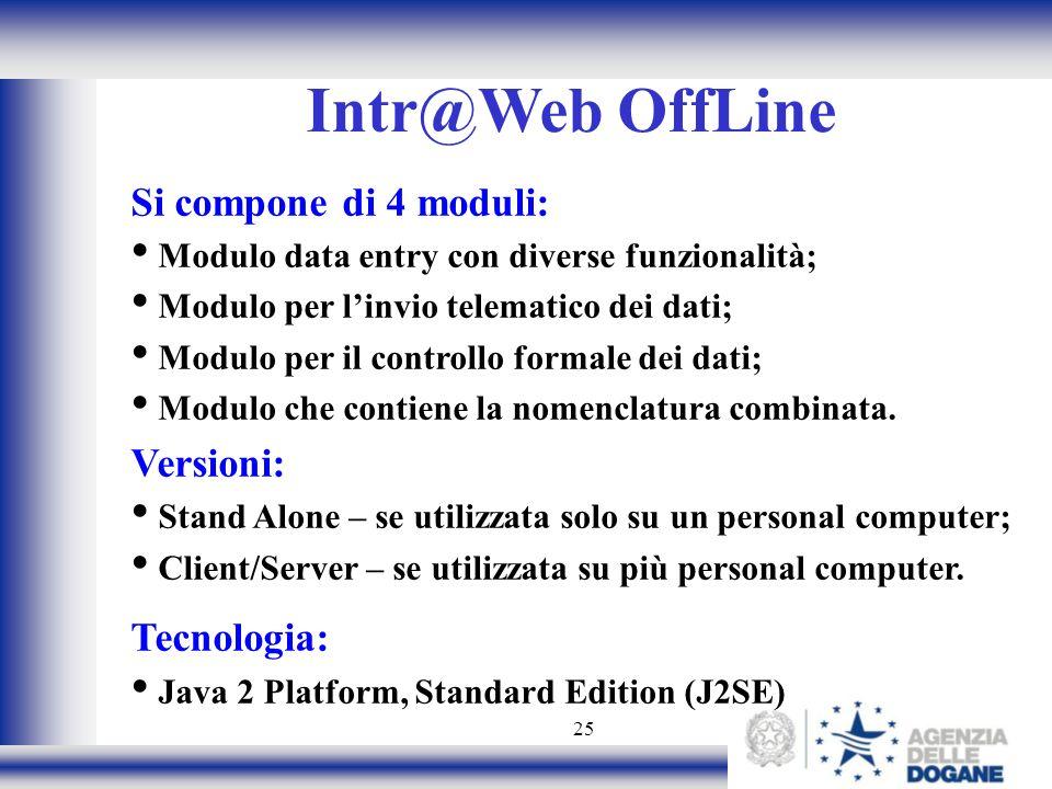 Intr@Web OffLine Si compone di 4 moduli: Versioni: Tecnologia:
