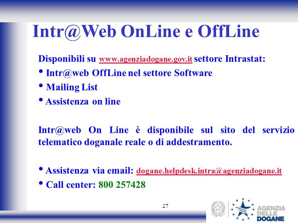 Intr@Web OnLine e OffLine