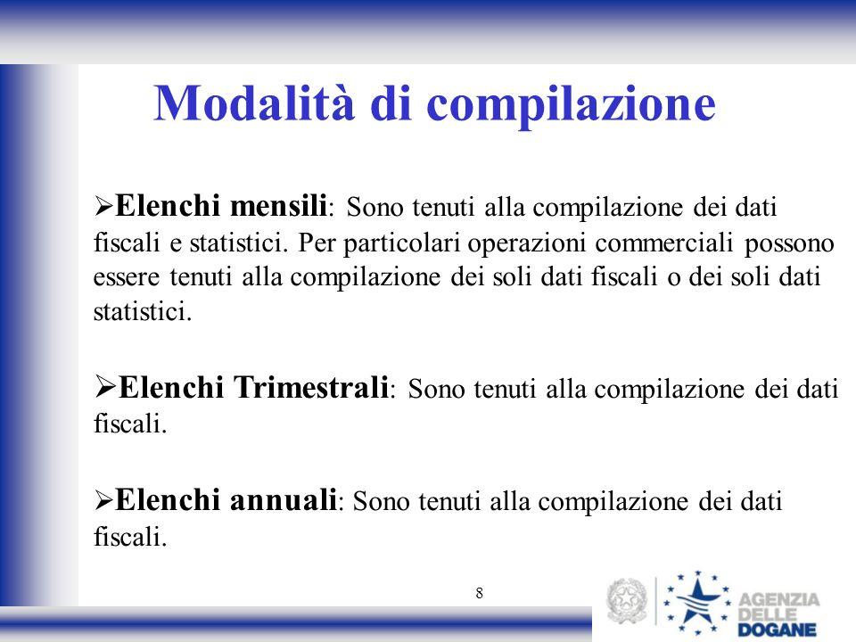 Modalità di compilazione