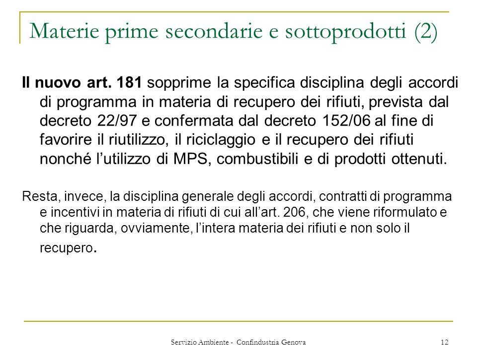Materie prime secondarie e sottoprodotti (2)