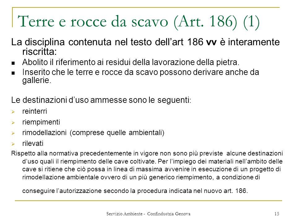 Terre e rocce da scavo (Art. 186) (1)