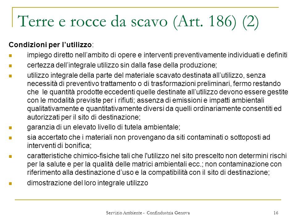 Terre e rocce da scavo (Art. 186) (2)