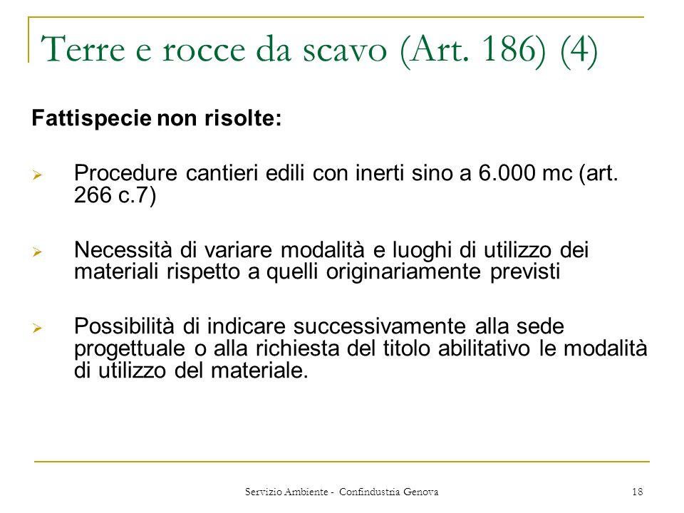 Terre e rocce da scavo (Art. 186) (4)