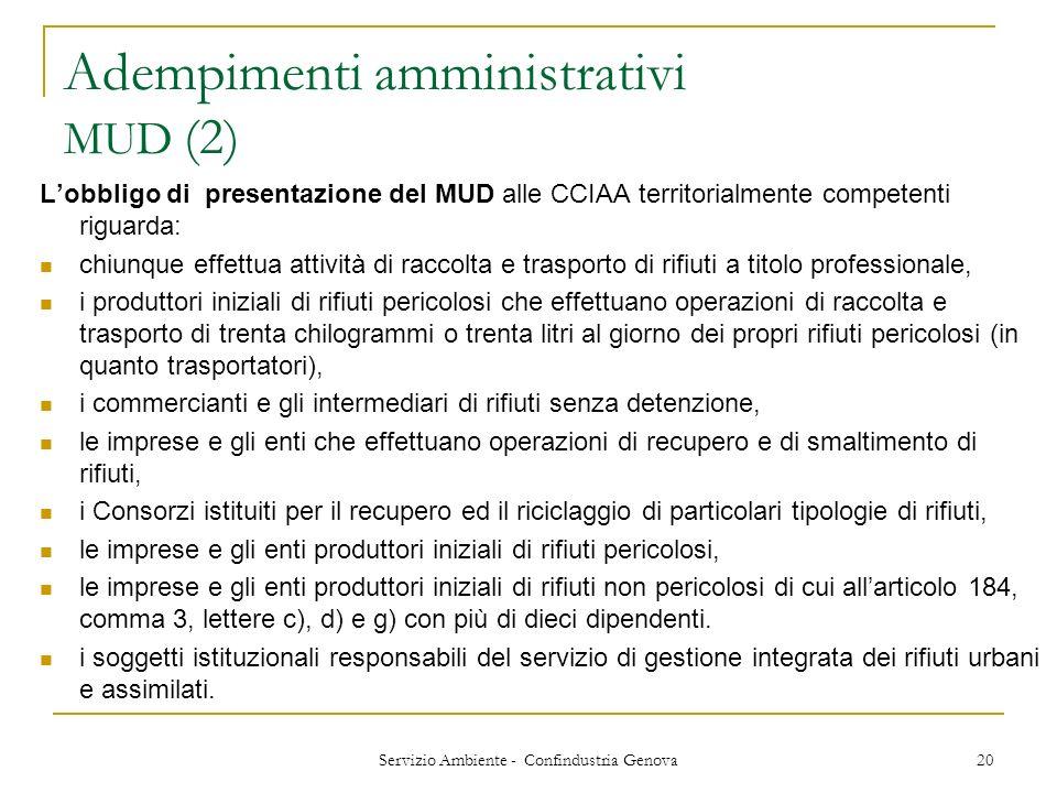 Adempimenti amministrativi MUD (2)