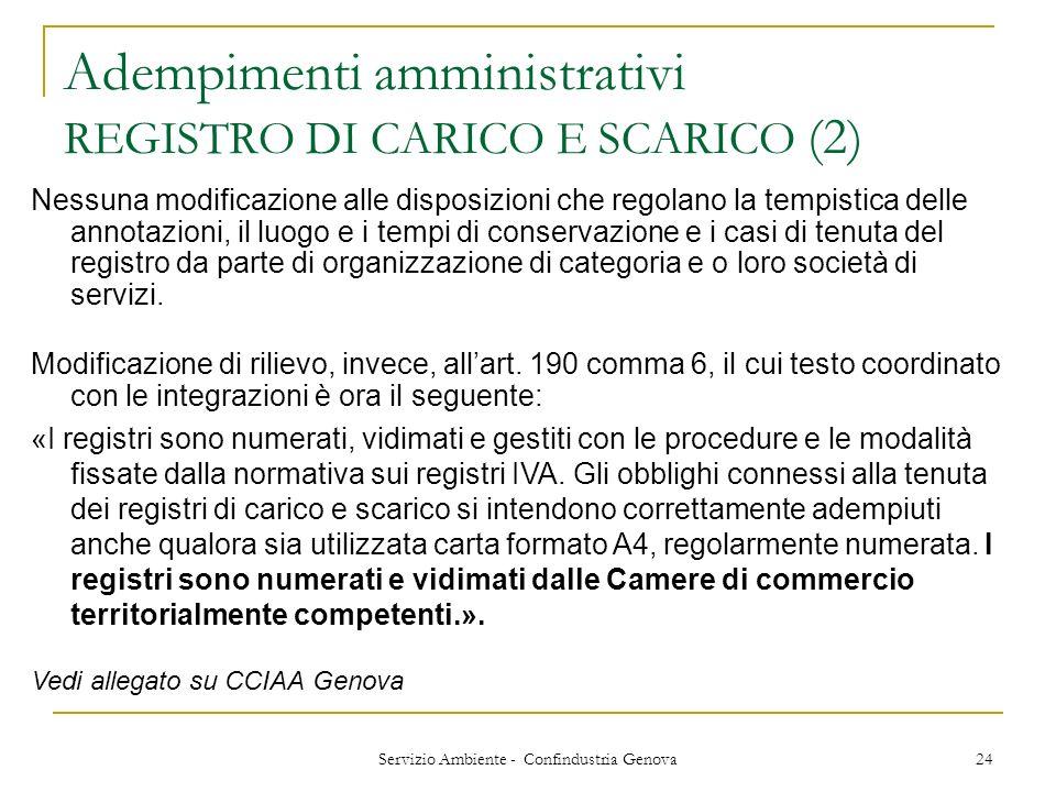 Adempimenti amministrativi REGISTRO DI CARICO E SCARICO (2)