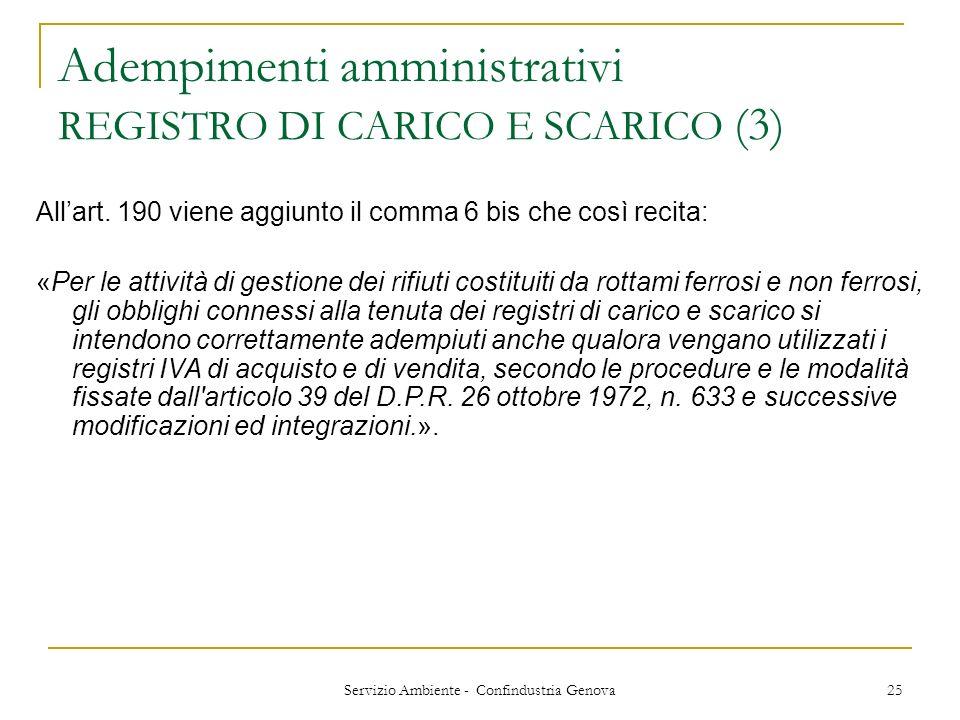 Adempimenti amministrativi REGISTRO DI CARICO E SCARICO (3)