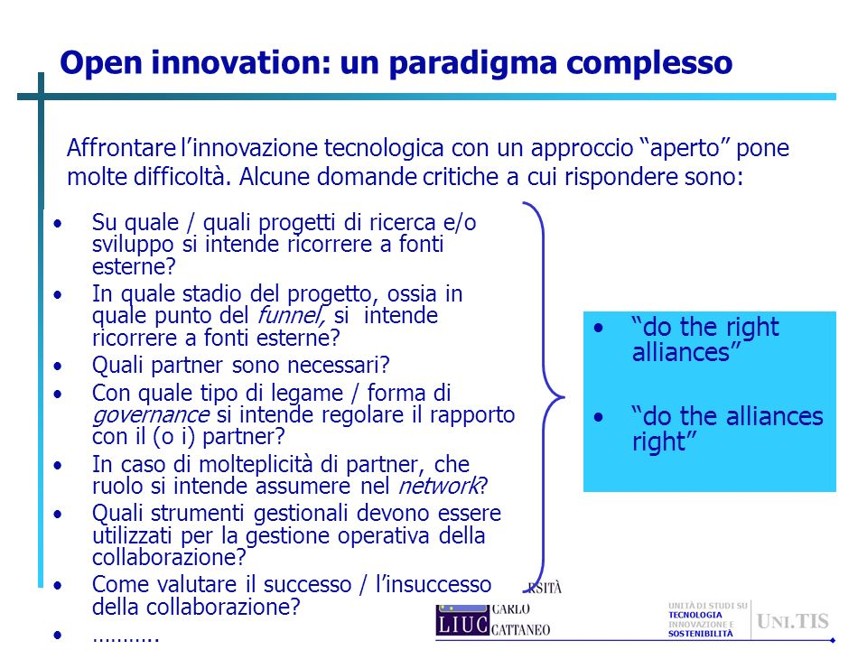 Open innovation: un paradigma complesso