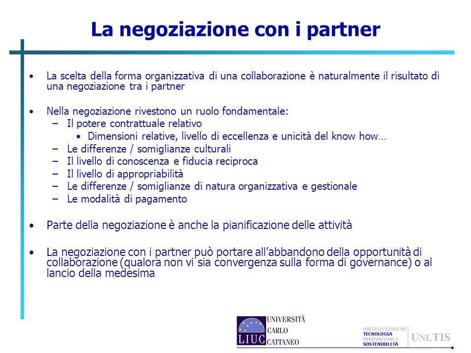 La negoziazione con i partner