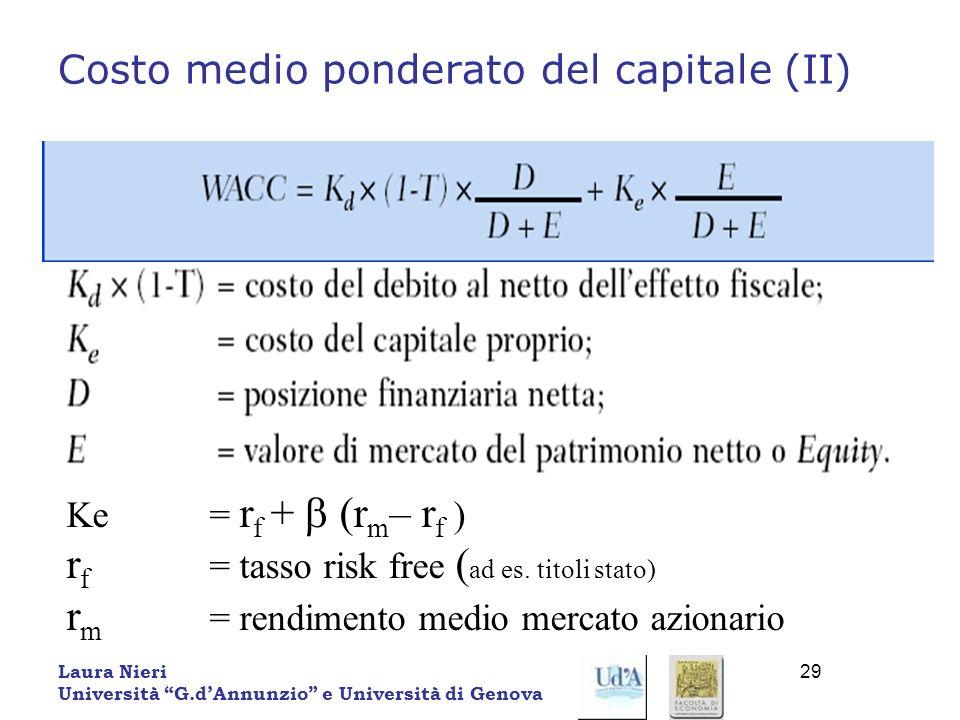 Costo medio ponderato del capitale (II)