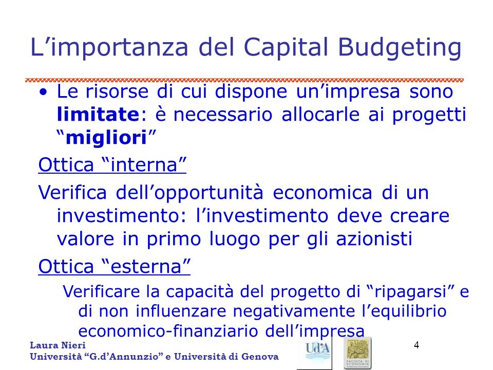 L'importanza del Capital Budgeting