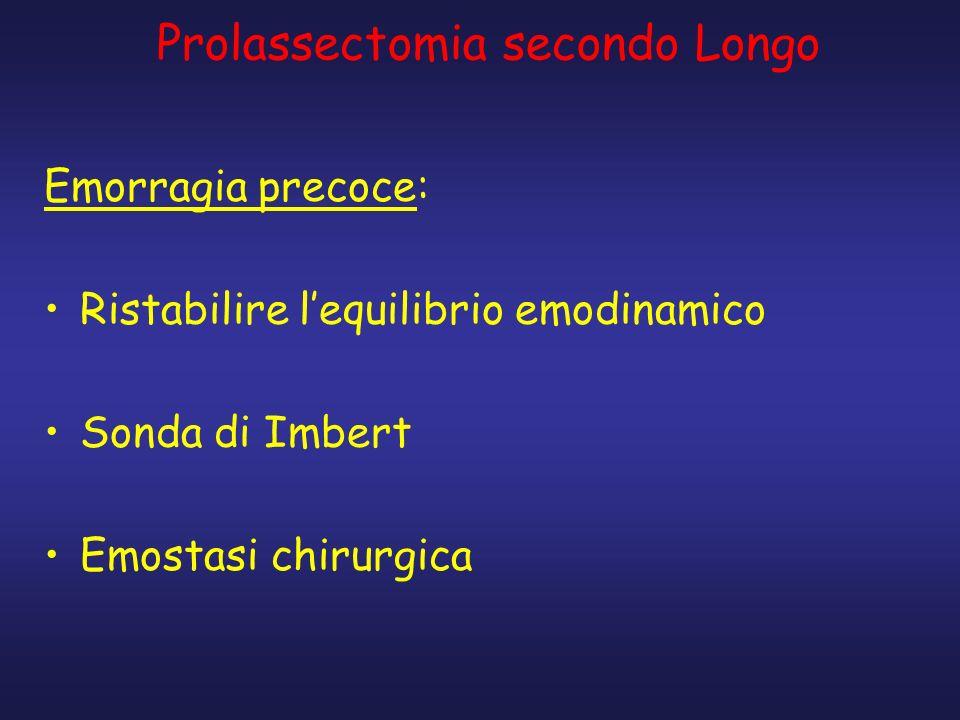 Prolassectomia secondo Longo