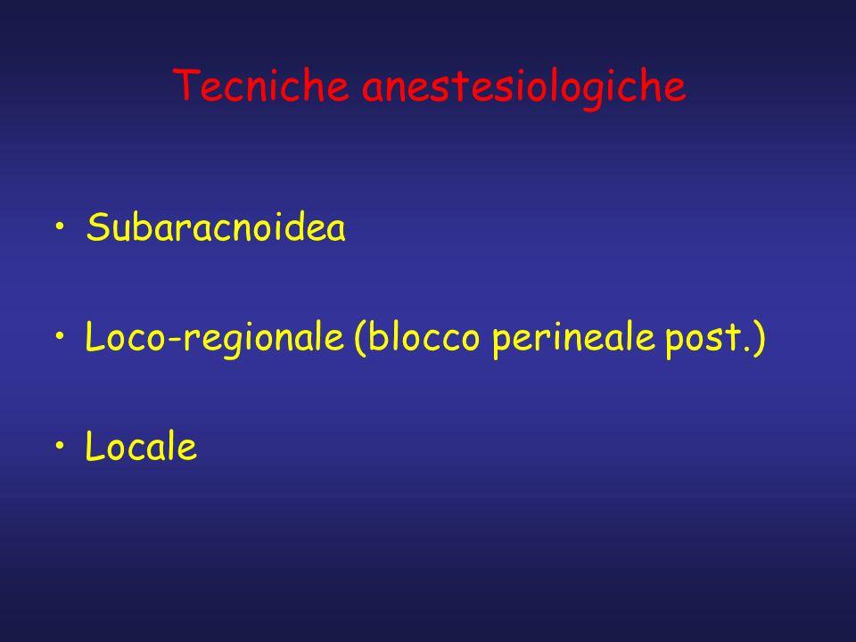 Tecniche anestesiologiche