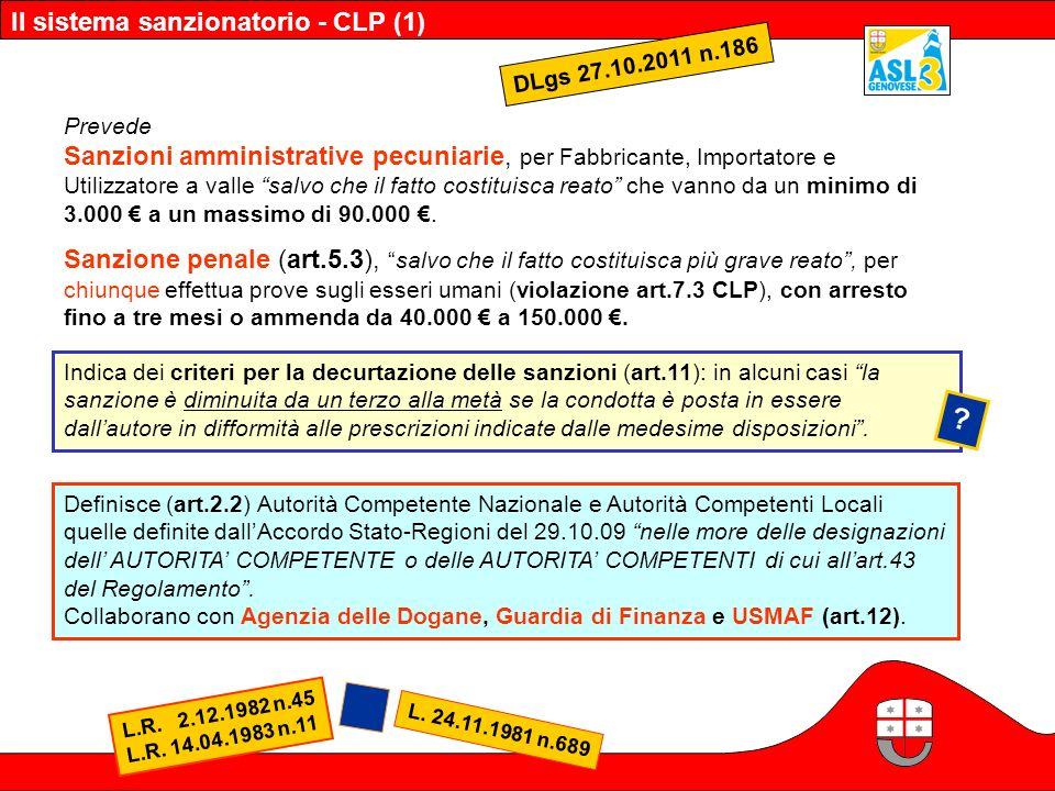 Il sistema sanzionatorio - CLP (1)