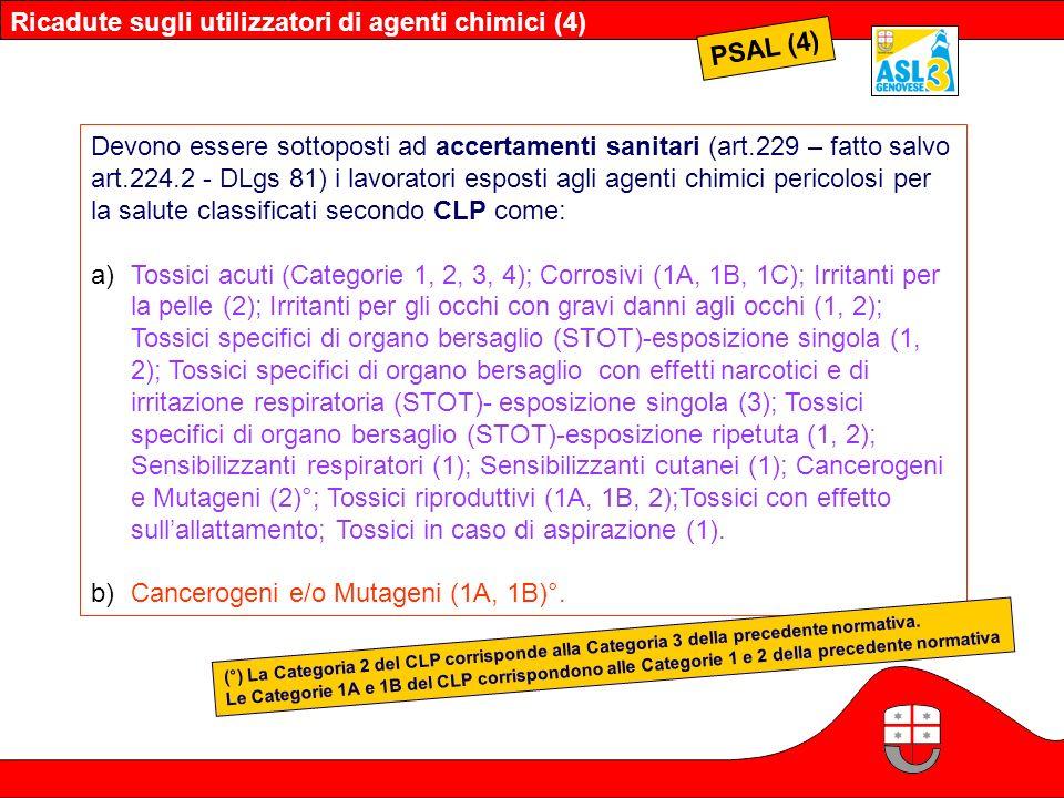 Ricadute sugli utilizzatori di agenti chimici (4) PSAL (4)