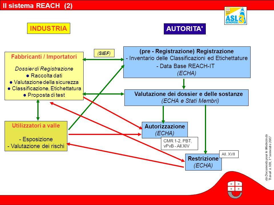 Il sistema REACH (2) INDUSTRIA AUTORITA