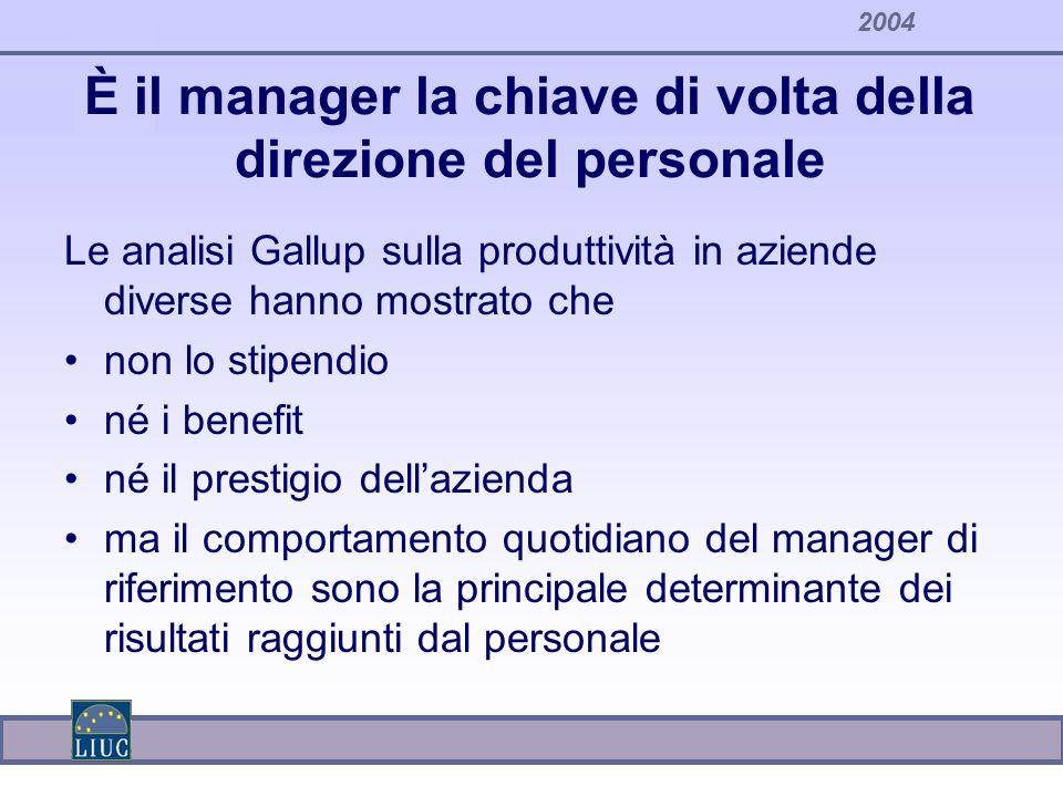 È il manager la chiave di volta della direzione del personale