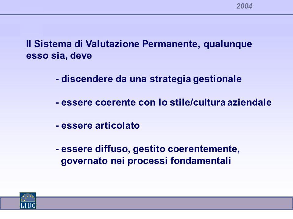 Il Sistema di Valutazione Permanente, qualunque esso sia, deve