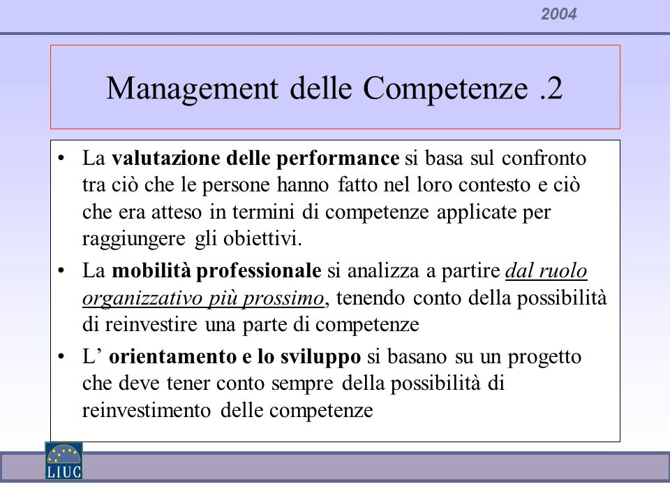 Management delle Competenze .2
