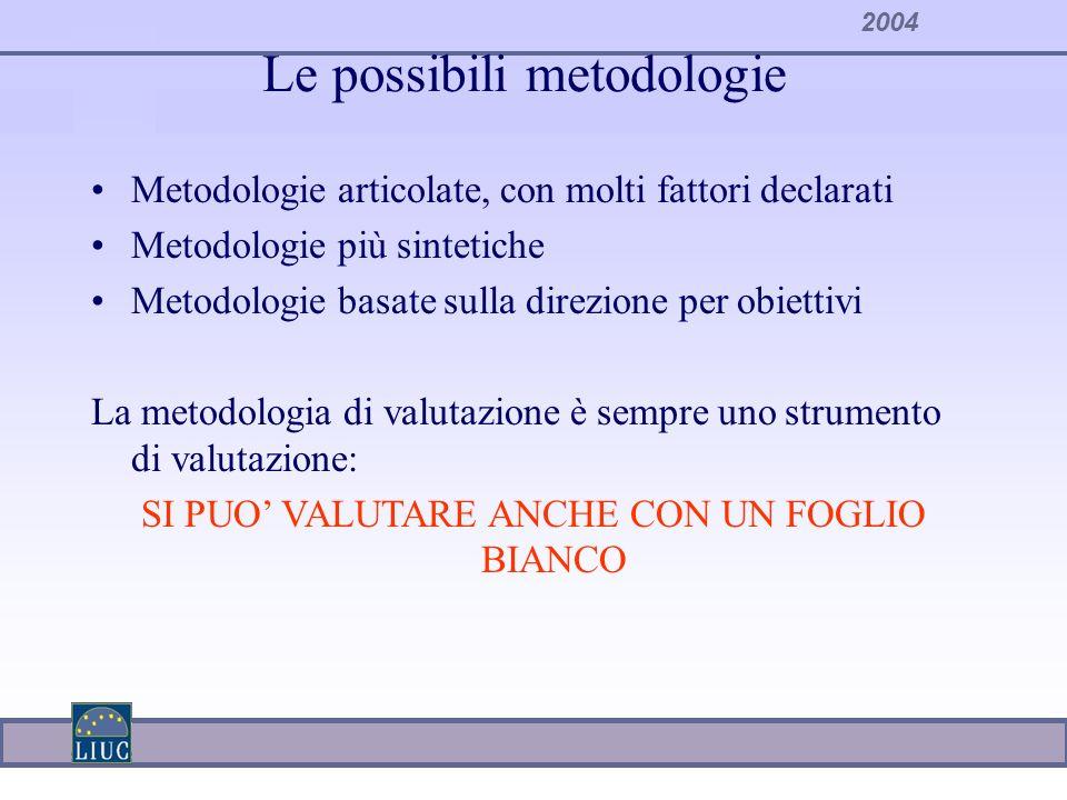 Le possibili metodologie