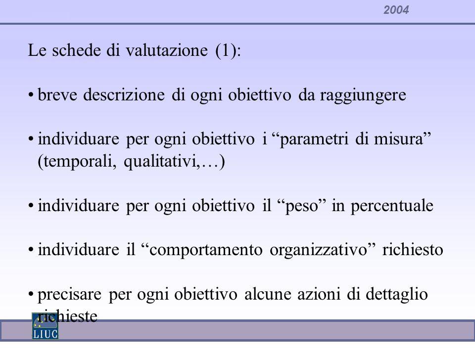 Le schede di valutazione (1):