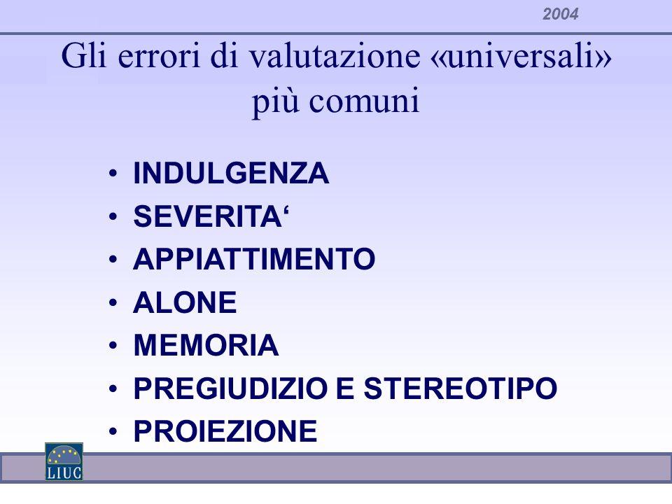 Gli errori di valutazione «universali» più comuni