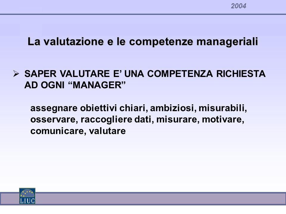 La valutazione e le competenze manageriali