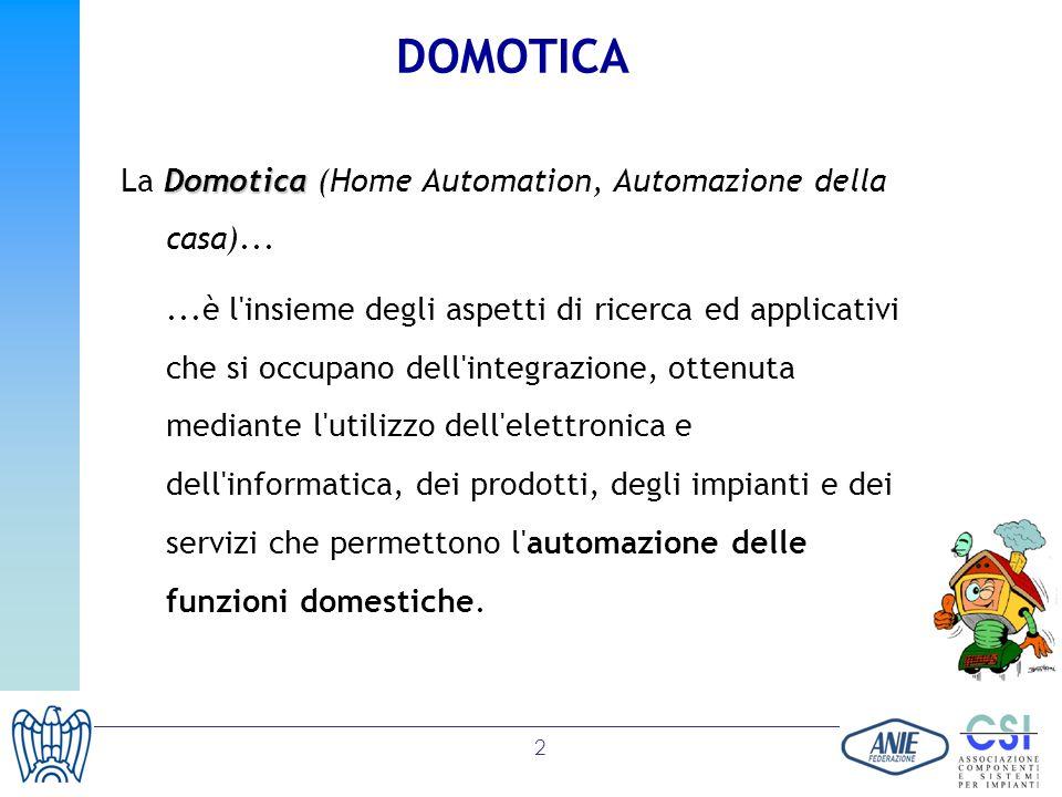 DOMOTICA La Domotica (Home Automation, Automazione della casa)...