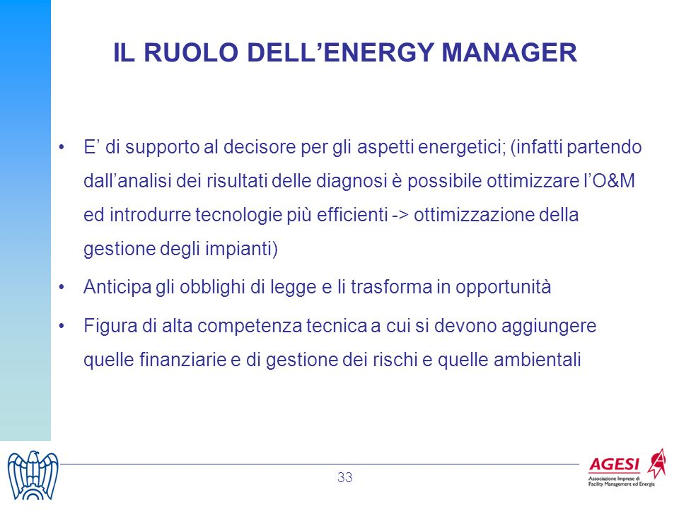 IL RUOLO DELL'ENERGY MANAGER