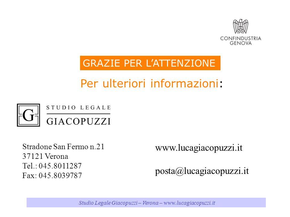 Studio Legale Giacopuzzi – Verona – www.lucagiacopuzzi.it