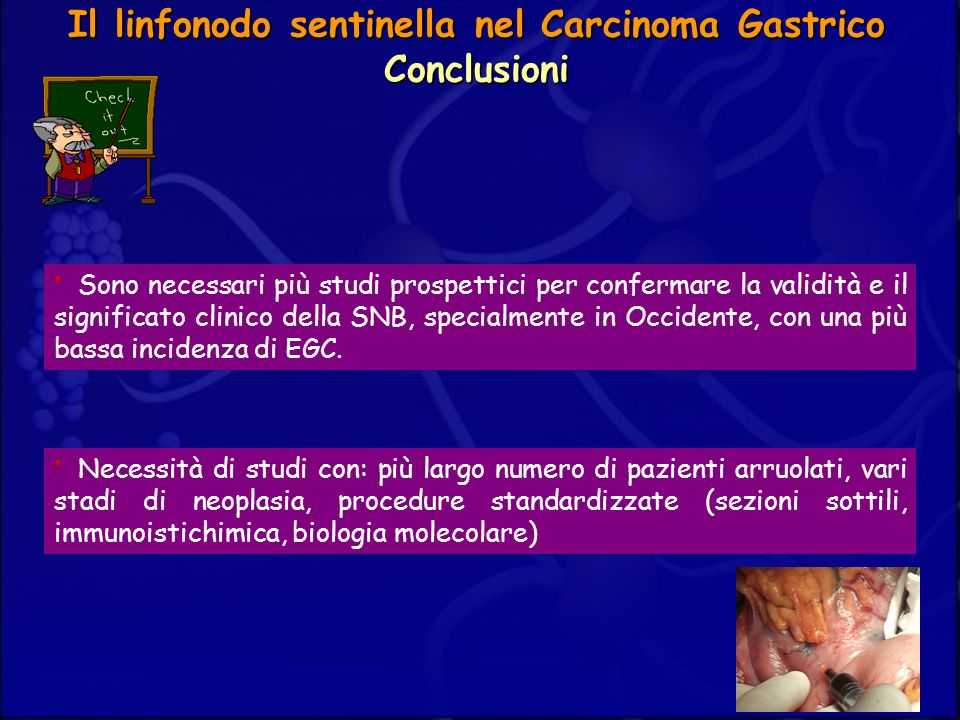 Il linfonodo sentinella nel Carcinoma Gastrico Conclusioni