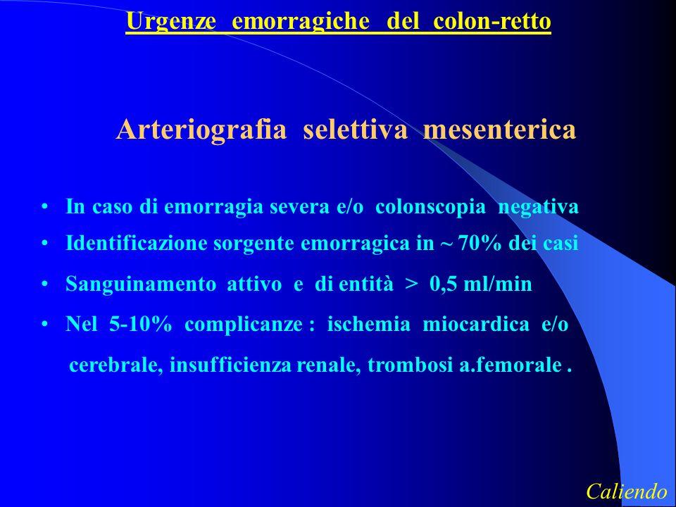 Arteriografia selettiva mesenterica