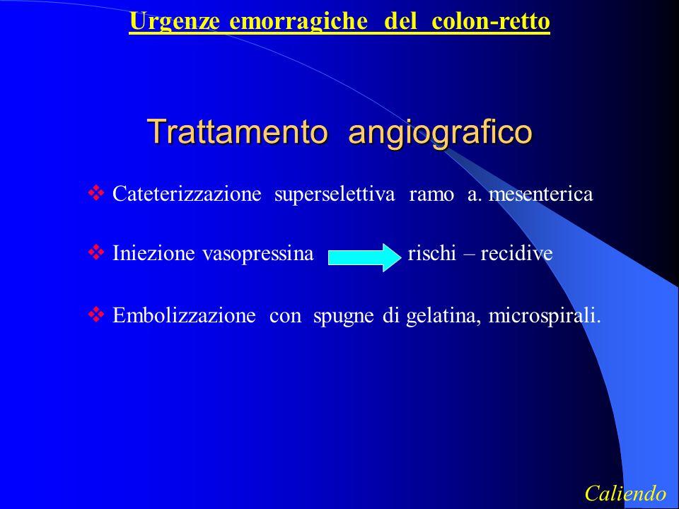 Trattamento angiografico
