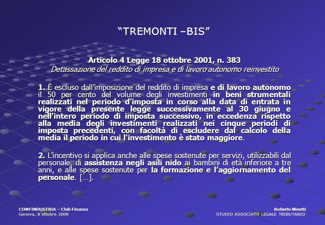 Articolo 4 Legge 18 ottobre 2001, n. 383