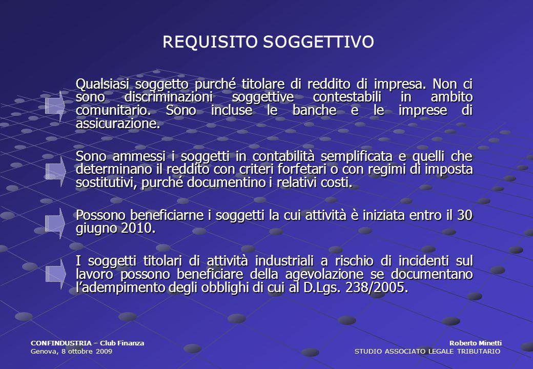 REQUISITO SOGGETTIVO