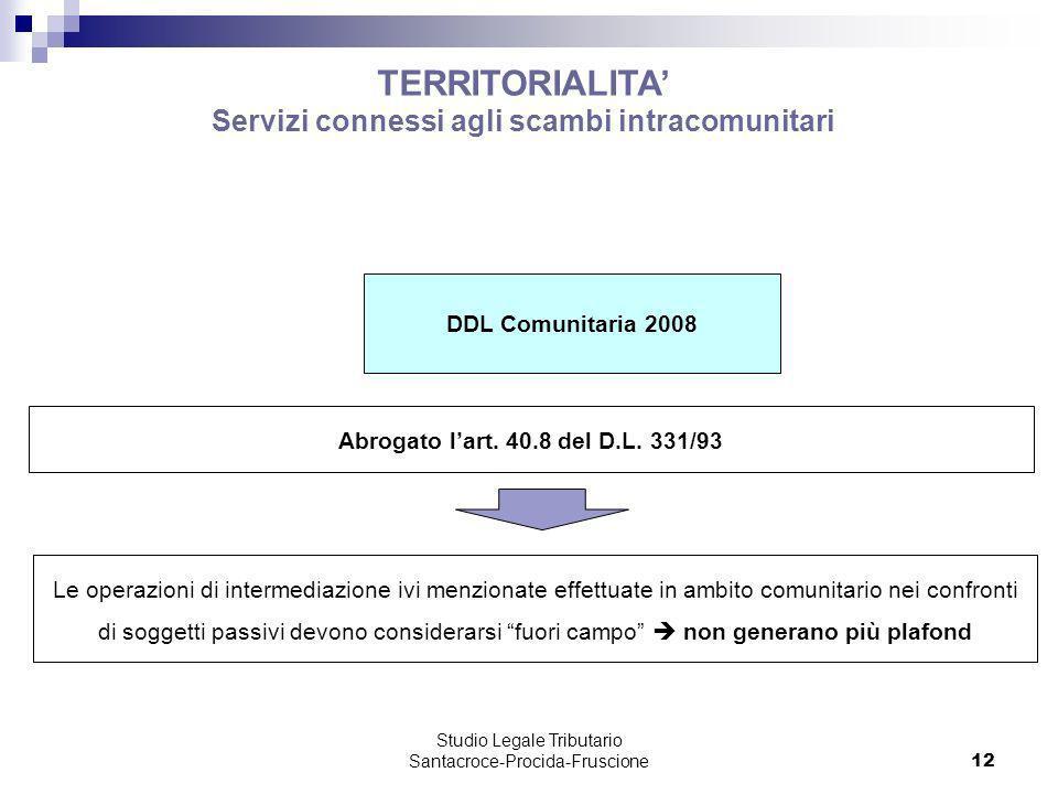 Servizi connessi agli scambi intracomunitari