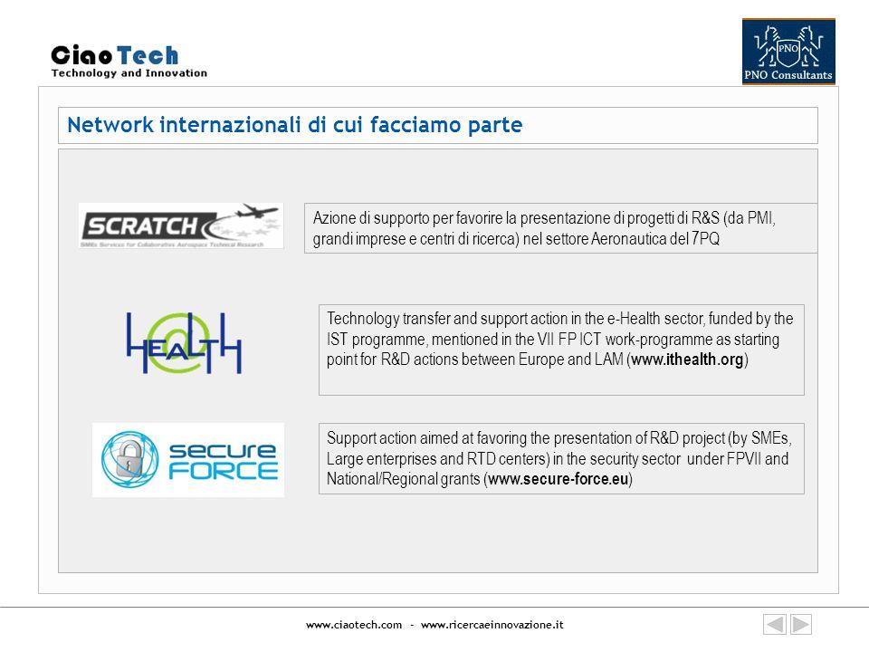 Network internazionali di cui facciamo parte