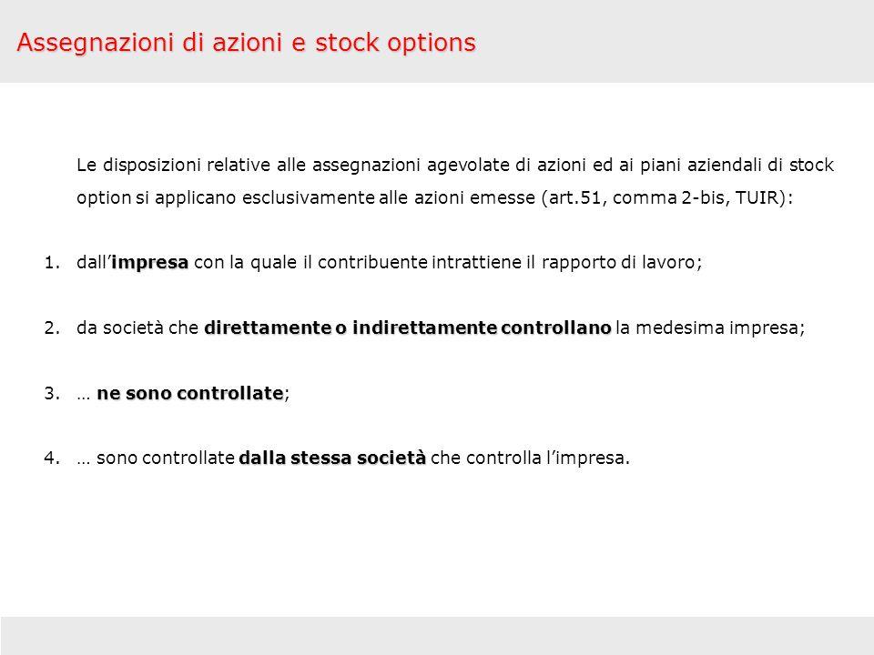Assegnazioni di azioni e stock options