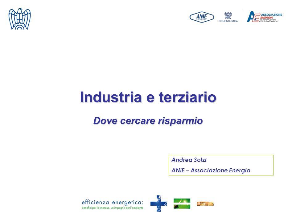 Industria e terziario Dove cercare risparmio