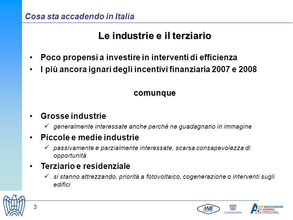 Le industrie e il terziario