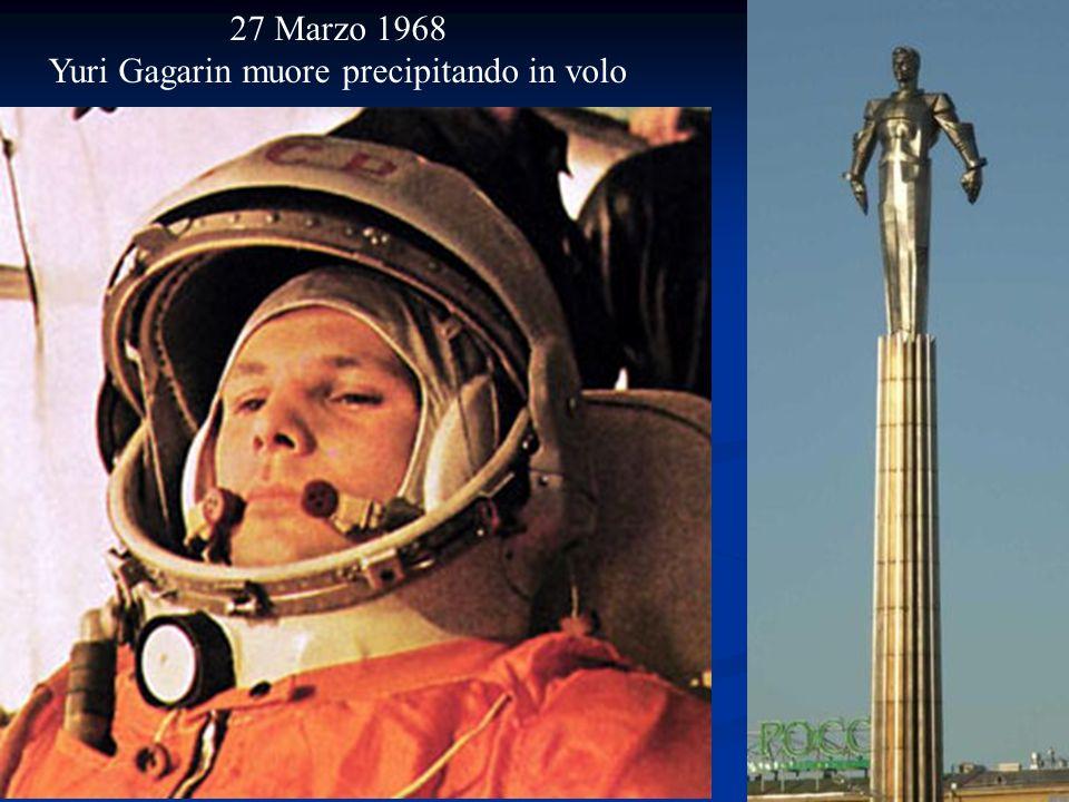 Yuri Gagarin muore precipitando in volo