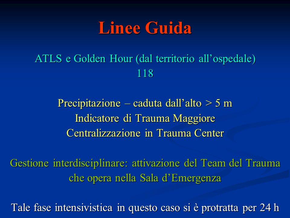 Linee Guida ATLS e Golden Hour (dal territorio all'ospedale) 118
